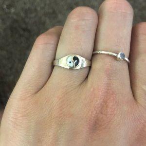 Jewelry - Yin Yang sterling silver ring